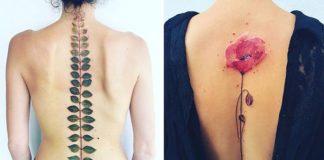 Éterické rastlinné tetovania inšpirované ročnými obdobiami | Pis Saro
