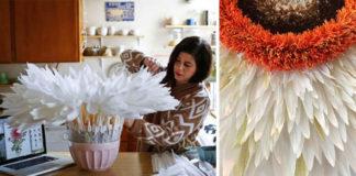 Obrovské kvety z krepového papiera, ktoré vyzerajú ako živé
