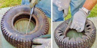 Ako premeniť starú pneumatiku na dekoračný kvetináč | DIY návod