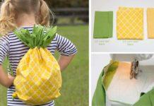 Letný ananásový batoh pre detičky na hračky a chrumky