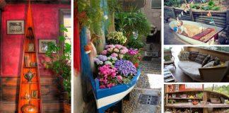 Ako staré loďky dostali druhú šancu | 21 kreatívnych nápadov upcyklácie