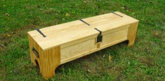 Rozkladacia posteľ skrytá v drevenej truhlici | Kreatívny nápad
