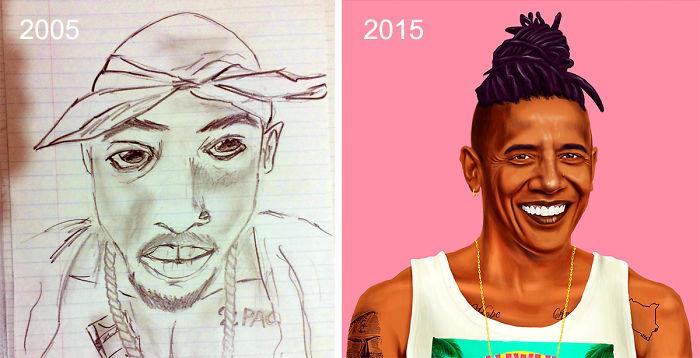 predtym a potom pokrok umelcov 13