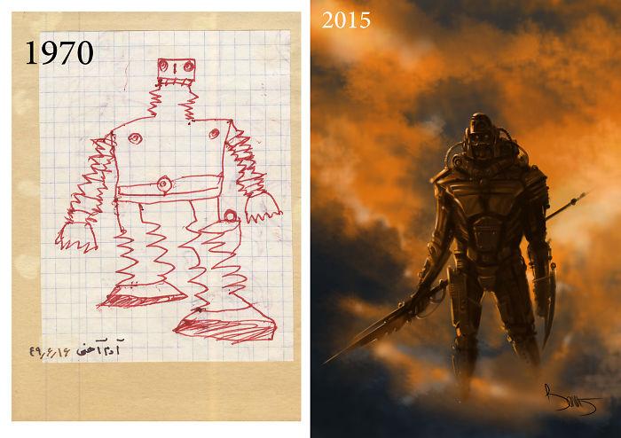predtym a potom pokrok umelcov 9