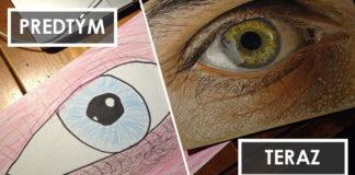 Umelci ukázali svoj pokrok v kreslení, ktoré nastalo behom rokov