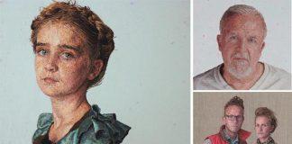 Portréty maľované niťou | Vyšívané maľby spod rúk Cayce Zavaglia