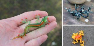 Nikita Drachuk vytvára malé sklenené sošky inšpirované prírodou