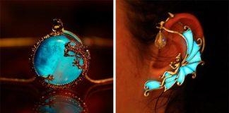 Handmade šperky žiariace v tme spod rúk umelkyne Manon Richard