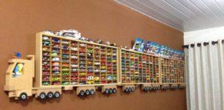 Poličky na autíčka | Kreatívne nápady na detské výstavné police a regály
