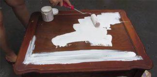 Stôl zrenovovaný servítkovou technikou decoupage | Nápad s návodom