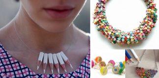 Farbičkové šperky | Nápady a návody na farebné šperky z farbičiek