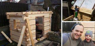 Domček na hranie pre syna | Inšpiroval sa tradičnými chalupami