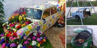 Kreatívne nápady, ako premeniť staré vyradené autá na niečo užitočné