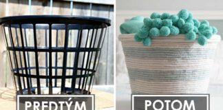 Lanový košík vytvorený z obyčajného platového koša | DIY nápad a návod