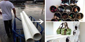 Organizér na obuv z PVC trubiek | Kreatívny DIY nápad a návod