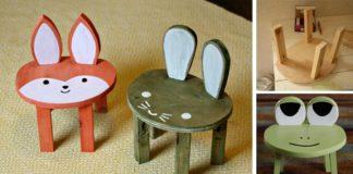 Stoličky pre deti v podobe zvieratiek | Kreatívny DIY nápad a návod