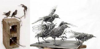 Sochy zvierat z drôtu akoby mali každú chvíľu ožiť | Candice Bees