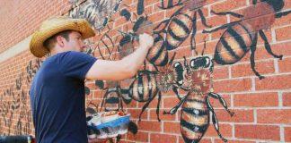 Na steny budov chce namaľovať 50 tisíc včiel po celom svete | Matt Willey