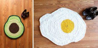 Vtipné handmade koberce inšpirované jedlom | Carly Dellger
