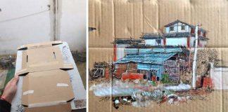 Kresby na odpade, ktorý sa povaľuje v uliciach | Wenyi
