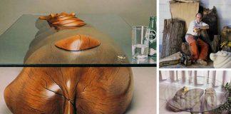 Kreatívne prevedenie stolov pripomína zvieratá ponorené vo vode