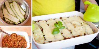 Cuketové lasagne | Recept na chutné lasagne bez cestovín