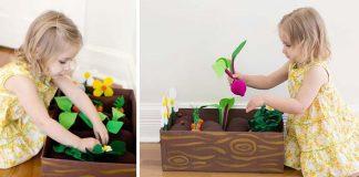 Záhradka z filcu | Kreatívny nápad a návod na edukatívnu hračku pre deti