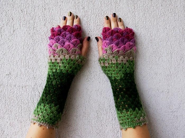 hackovane-a-pletene-dracie-rukavice-zahreju-bezprstove-farebne-1