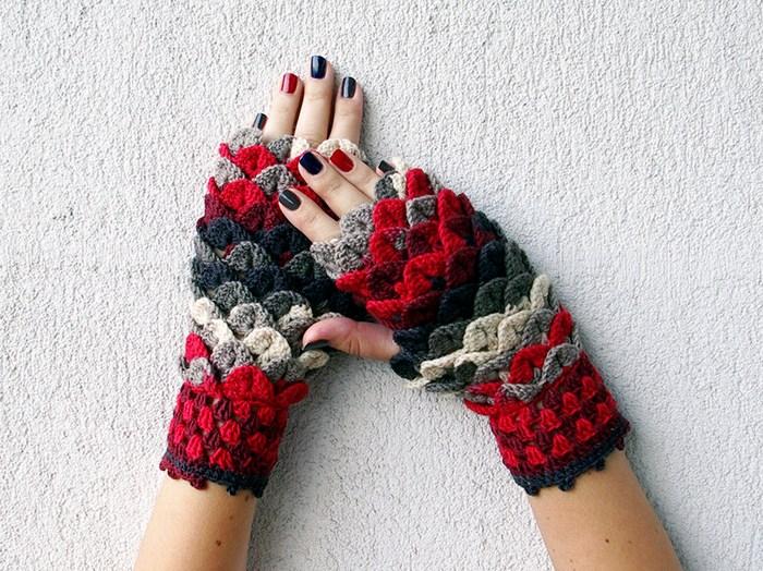 hackovane-a-pletene-dracie-rukavice-zahreju-bezprstove-farebne-2