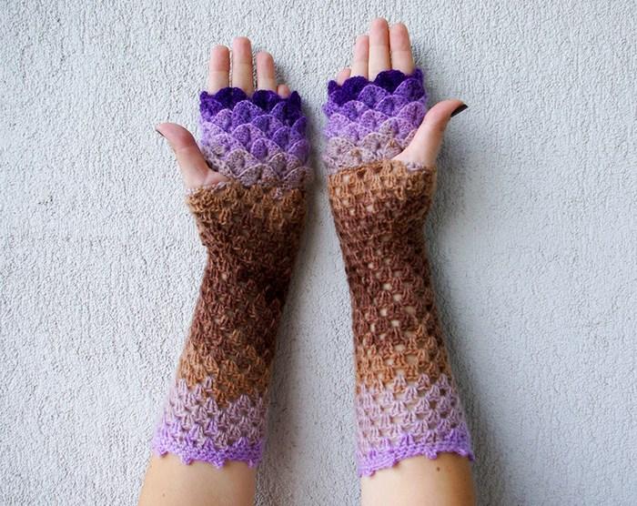 hackovane-a-pletene-dracie-rukavice-zahreju-bezprstove-farebne-3