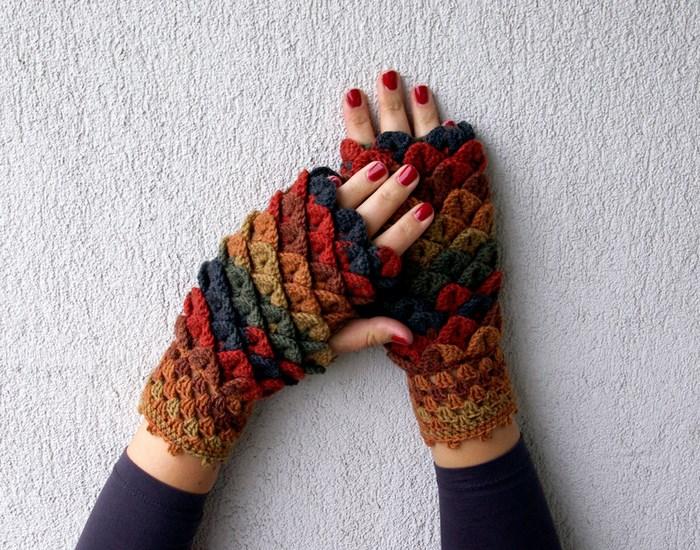 hackovane-a-pletene-dracie-rukavice-zahreju-bezprstove-farebne-5