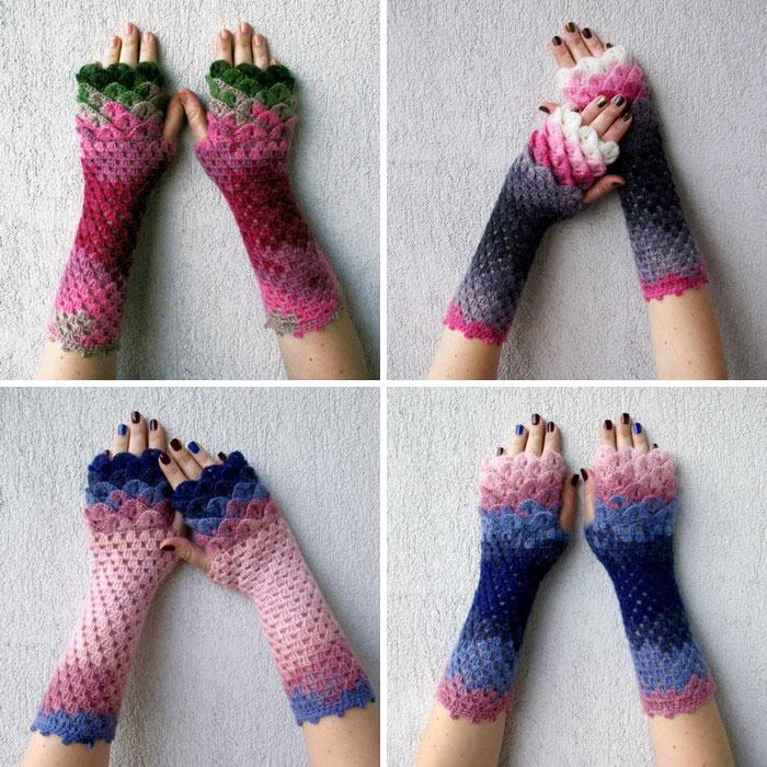 hackovane-a-pletene-dracie-rukavice-zahreju-bezprstove-farebne-9