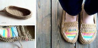 Háčkované mokasíny | Kreatívny nápad pre handmade inšpiráciu