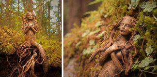 Naplavené drevo mení na éterické sochy | Debra Bernier
