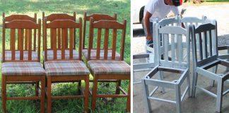 Staré stoličky premenil na vytúženú lavičku okolo stromu | Nápad a návod