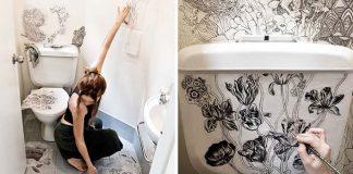 Premena toalety na čarovné miesto rukami dizajnérky | Roza Khamitova