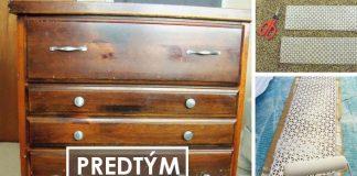 Renovácia staršej komody pomocou farby a hliníkového plechu | DIY