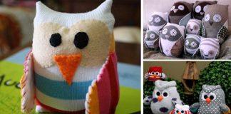 Sovička z ponožky | Kreatívne nápady ako premeniť ponožku na sovu