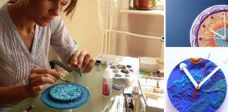 Hodiny z polymérovej hmoty | Handmade tvorba Nibyniebo