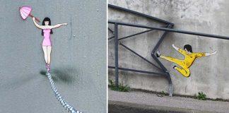 Nápaditý street art vtipne spolupracuje s prostredím | OakOak