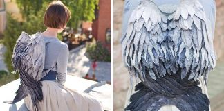 Plstené ruksaky vyzerajú ako vtáčie krídla | Handmade vaky Volha Kotova