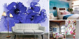 Akvarel v interiérovom dizajne | 60 inšpirácií, ktoré premenia nudnú izbu