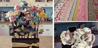 Kvety z látky | Kreatívny DIY nápad a detailný návod na látkové kvetiny