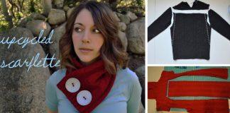 Pletené šály zo svetrov, ktoré nepotrebujete pliesť | Kreatívne DIY nápady