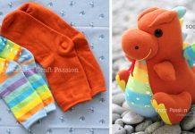 Ponožkový drak | Kreatívny nápad na handmade hračku pre deti