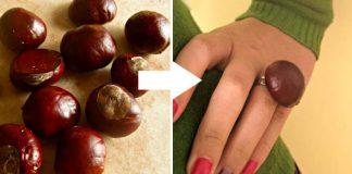 Gaštanový prsteň | Jednoduchý DIY návod na prírodný jesenný prsteň