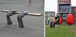 Najkreatívnejšie lavičky, aké ste kedy na uliciach, či v parkoch videli!