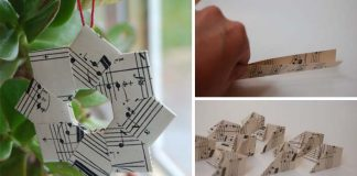 Papierová origami ozdoba na stromček či pohľadnicu | DIY nápad a návod