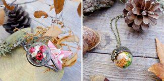 Šperky s teráriami ukrývajú kúsky prírody | Tvorba spod rúk Toñi Rielvez