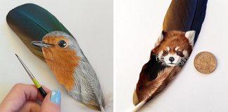 Pierka ako plátno | Realistické maľby zvierat Krystle Missildine